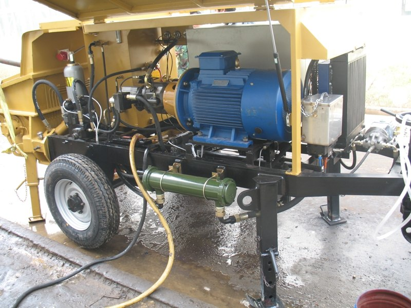 Trailer Mounted Concrete Line Pump By Changli Machinery