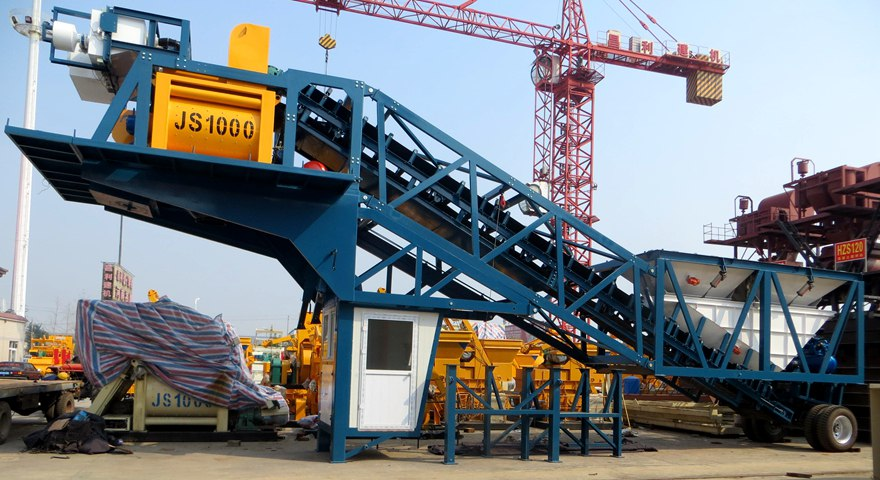 Mobile Concrete Batching Plant Aimix Machinery