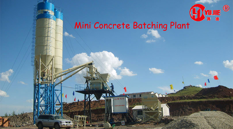 Mini Batching Plant : Mini concrete batching plant changlimachinery
