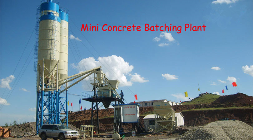 Mini Concrete Batch Plant Cube : Mini concrete batching plant changlimachinery